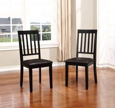 Linon Cayman Dining Chairs - Set of Two, Black