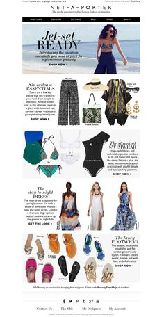 #newsletter Net-a-porter 04.2014 Cristina, what to pack for a chic vacation