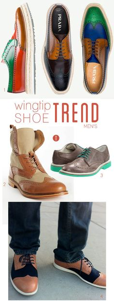 wingtip shoe trend, men's- Jonathan would probably not wear these, but I wish he would!!