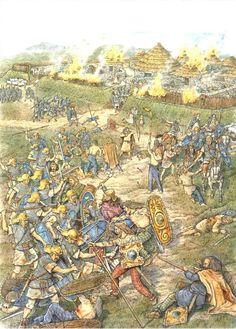roman assault of a caledonian village