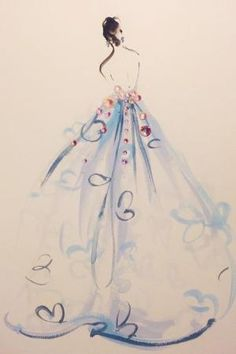 Ball gown sketches // Katie Rodgers Drawings by magdalena