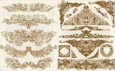european gorgeous retro pattern vector