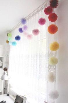 Tulle Garland - Tulle Pom Pom Balls - Tulle Pompom Puffs - Kids Garland - Make Y. - Tulle Garland – Tulle Pom Pom Balls – Tulle Pompom Puffs – Kids Garland – Make Your Own Gar - Tulle Garland, Tulle Poms, Pom Pom Garland, Floral Garland, Tulle Tutu, Diy Room Decor, Nursery Decor, Bedroom Decor, Kids Bedroom