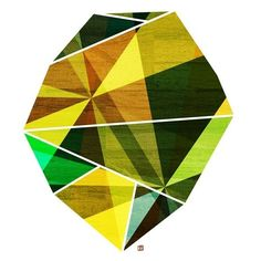 Emerald, Green Geometric Art Abstract Print Prism Rock Illustration... ($21) ❤ liked on Polyvore featuring home, home decor, wall art, emerald green home accessories, geometric wall art, geometric home decor, green home accessories and emerald green home decor