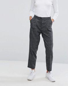 ASOS Monki Check Slim Peg Pants  $40.00