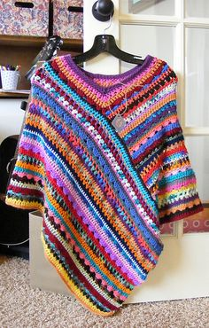 So love this design and colors- all from her yarn stash- Molly Poncho for Jessie