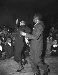 Dancing with the Stars | 1938    A African American couple dancing their derrieres off :-) at a Central Avenue nightclub, Los Angeles, 1938.    Credit: Los Angeles Times photographic archive, UCLA Library. Copyright Regents of the University of California, UCLA Library.