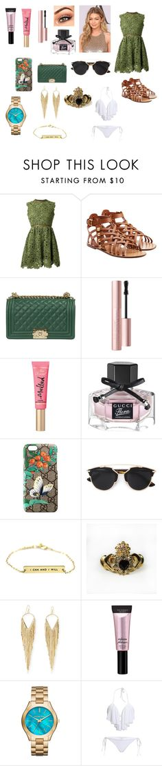 """""""Beach Waves"""" by aravicka ❤ liked on Polyvore featuring Valentino, New Arrivals, Too Faced Cosmetics, Gucci, Christian Dior, Jules Smith, Beauty Rush and MICHAEL Michael Kors"""