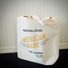 Attending a potluck, have your items arrive in style with this Made ins the USA Marion & Rose signature tote.
