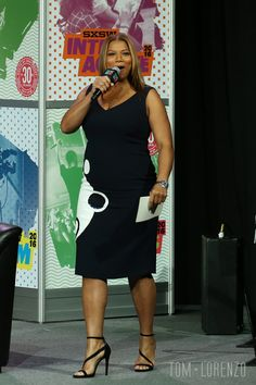 Queen Latifah onstage at SXSW Keynote: Michelle Obama during the 2016 SXSW Music, Film + Interactive Festival at Austin Convention Center in Austin, Plus Size Wedding Dresses With Sleeves, Wedding Dress With Pockets, Plus Size Dresses, Plus Size Outfits, Curvy Fashion, Plus Size Fashion, Girl Fashion, Womens Fashion, Look Plus Size