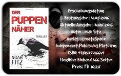 """Leserattes Bücherwelt: [Karls Rezension] """"Der Puppennäher"""" Noah Fitz"""