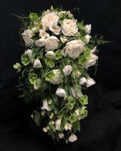 White and Green Cascading Bridal Bouquet Floral Wedding, Wedding Flowers, Dish Garden, Order Flowers Online, Sympathy Flowers, Vase Arrangements, Gerbera, Flower Delivery, Orchids