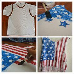 american flag top D.I.Y! http://carmenalexandra.com/
