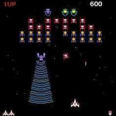 My new addiction is Galaga. For those of you unfamiliar with this arcade game, it goes something like this- The game takes place in space. The aim of the game is to shoot down alien bees, but… Arcade Retro, 80s Video Games, Vintage Video Games, Vintage Games, Vintage Signs, Space Invaders, Donkey Kong, Jhon Green, Metallica