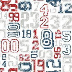 York KS2363 Cool Kids Varsity Number Wallpaper