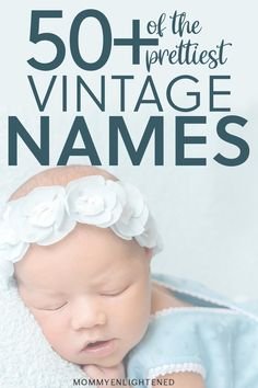 These vintage inspired baby names are retro but still perfectly modern today! These retro baby names are truly making a come back! 2020 unisex baby names baby names gender neutral baby names list baby names uncommon baby names unique Retro Baby, Vintage Baby Girl Names, Vintage Baby Mädchen, Vintage Names, Names Girl, Vintage Girls, Kid Names, Unique Vintage, Names Baby