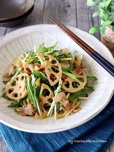 豚バラと蓮根と水菜のデリ風サラダ by Norimaki 「写真がきれい」×「つくりやすい」×「美味しい」お料理と出会えるレシピサイト「Nadia | ナディア」プロの料理を無料で検索。実用的な節約簡単レシピからおもてなしレシピまで。有名レシピブロガーの料理動画も満載!お気に入りのレシピが保存できるSNS。