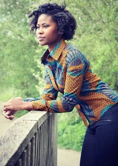 Kitenge Shirt - The Click Styles African Inspired Fashion, Latest African Fashion Dresses, African Print Dresses, African Print Fashion, African Dress, African Prints, Nigerian Fashion, Ghanaian Fashion, Ankara Dress