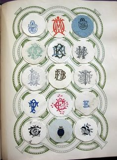 album of antique crests and monograms...so lovely! what an amazing find!