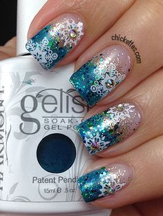 Chickettes christmas #nail #nails #nailart