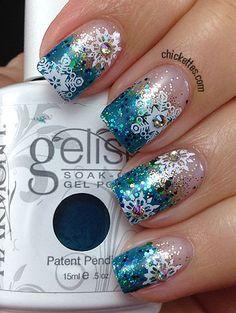 Chickettes christmas #nail #nails #nailart