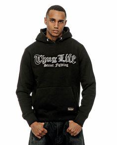 "Thug Life ""Street Boxing"" Sweatjacket Black Big"