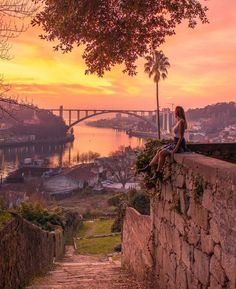 Planning your trip to Porto? Then you will like to go to these places for epic views - especially if you visit them for sunset! Planning your trip to Porto? Then you will like to go to these places for epic views - especially if you visit them for sunset! Visit Portugal, Portugal Travel, Spain And Portugal, Sintra Portugal, Porto City, Best Instagram Photos, Best Sunset, Algarve, Plan Your Trip