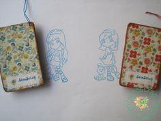 Sellos muñecas carvados, con base de corcho