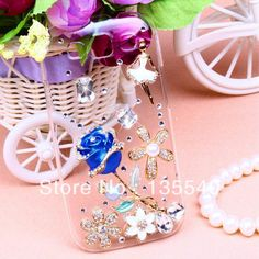 3D Vivid Rose Rhinestone cell phone case for sansung i9300 galaxymini free shipping3D Vivid Rose Rhinestone cell phone case for sansung i9300 galaxymini free shipping #for Samsung galaxy S3 case #rose #DIY cases #blue www.aliexpress.com/store/product/3D-Vivid-Rose-Rhinestone-cell-phone-case-for-sansung-galaxy-mini-free-shipping/135540_1296597470.html