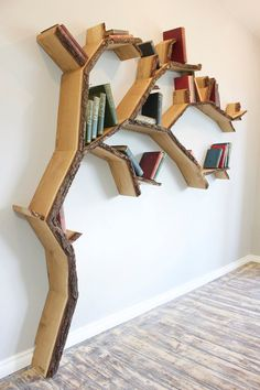 Instead of leaves, these branches have books.