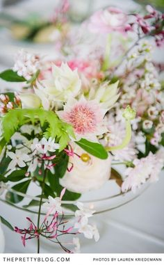 Romantic Blush & Emerald Inspiration | Styled Shoots | The Pretty Blog