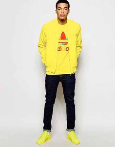 Image 1 ofAdidas Originals X Pharrell Williams Supercolour Bright Yellow