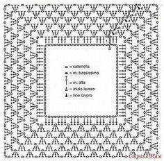"Vestido com grafico [ ""easy | Crochet"