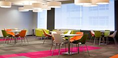 Design and Specify, canteen stool, canteen seating, colourful, informal, practical, office design, office furniture, reception desk, meeting room, training room, office, fit out, refurbishment, interior design, Leeds, York, Harrogate, Yorkshire,