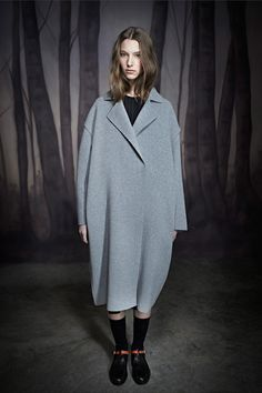 Slate grey-blue might be having a moment.  Ter et Bantine | Pre-Fall 2014 Collection | Style.com
