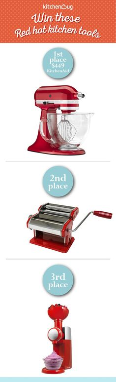 This Valentine's Week, enter to win one of these red hot kitchen tools! All you have to do is invite your friends to join ... pinned with Pinvolve - pinvolve.co