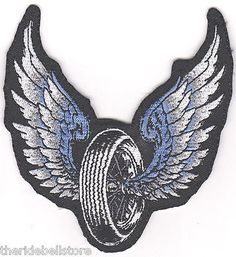 WINGED WHEEL  Motorcycle Vest BACK PATCH