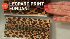 Leopard print fondant (2 ways) for animal print cakes | Jessica Harris Cake Decorating Tutorial - YouTube