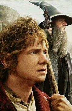 "Gandalf i Bilbo - Ian McKellen, Martin Freeman - ""Hobbit"", O Hobbit, The Hobbit Movies, Hobbit Hole, Fellowship Of The Ring, Lord Of The Rings, Martin Freeman, Ian Mckellen Gandalf, I Movie, Movie Stars"