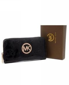 Michael Kors Wallet Jet Set Monogram Leather Dark Blue
