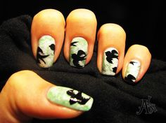 Sparrows ^^ by ALM - Nail Art Gallery nailartgallery.nailsmag.com by Nails Magazine www.nailsmag.com #nailart