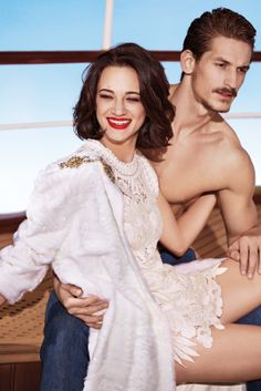 visual optimism; fashion editorials, shows, campaigns & more!: asia argento and jarrod scott by francesco carrozzini for ermanno scervino s/s 14