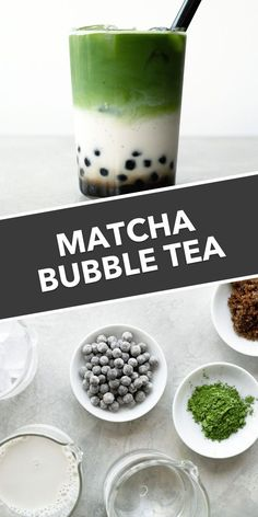 Bubble tea is such a delicious treat, made even better in the macha version. Make delicious matcha green tea bubble tea at home with this easy tutorial! Green Tea Recipes, Iced Tea Recipes, Dessert Recipes, Matcha Drink, Matcha Dessert, Iced Matcha Tea Recipe, Boba Tea Recipe, Green Tea Boba Recipe, Green Tea Dessert