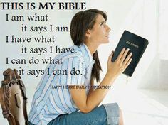 Today I will be taught the word of God. My mind is alert, my heart is receptive, I will never be same- I love saying this at the beginning of all Joel Osteen's sermons.
