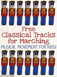 Marching is a fantastic musical activity for kids. It combines music, movement, listening. preschool music, music and movement, classical music for kids. Preschool Music Activities, Kindergarten Music, Teaching Music, Teaching Kids, Movement Activities, Teaching Tools, Toddler Activities, Music For Toddlers, Music Lessons For Kids