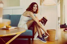 Feminine casual | Alexa Chung | Superga Italian Sneakers