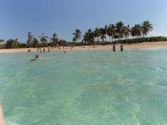 Boogie Boarding on a beautiful secluded beach. Macao beach, Punta Cana, Dominican republic