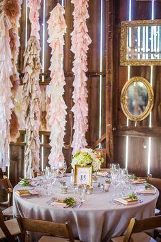 Wedding Lush  blush ruffle backdrop