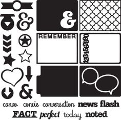 Download this collection of die cuts to get you started with pocket-style scrapbooking.