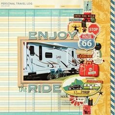 by Christie Bryant travel scrapbook layout